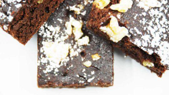brownies al cioccolato con fagioli, sani e buoni