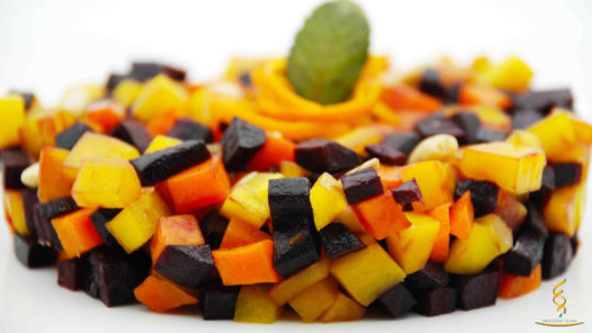 insalata di carote tricolore